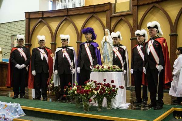K of C Honour Guard at Marian Mass